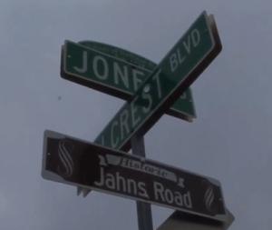 Jahns Road sign