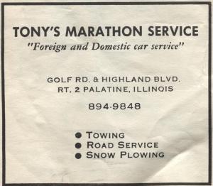 Tony's Marathon Service