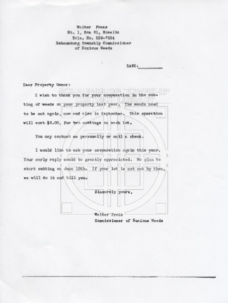 Fraas letter