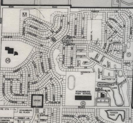 Village of Schaumburg map 1979